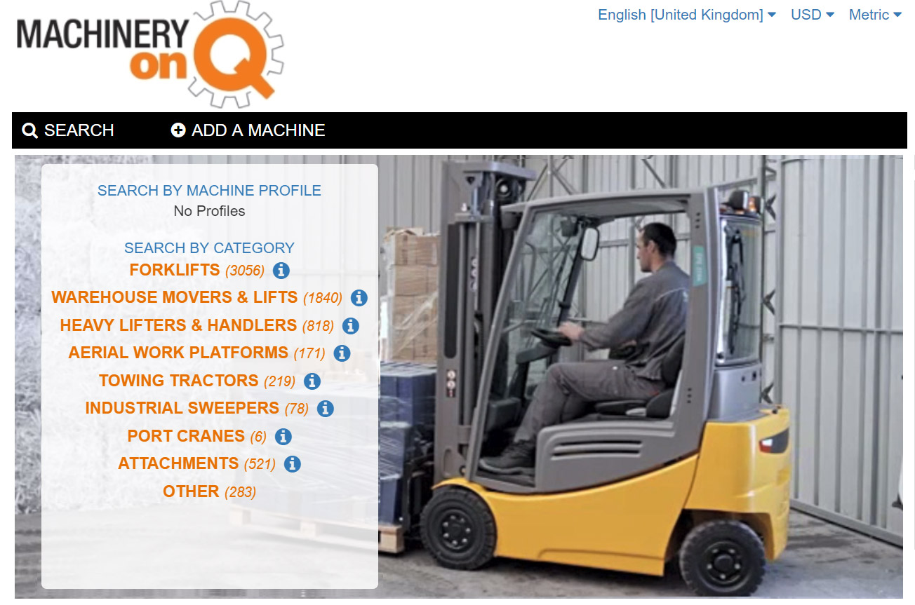 Machinery-onQ | Trading platform for new, used and rental